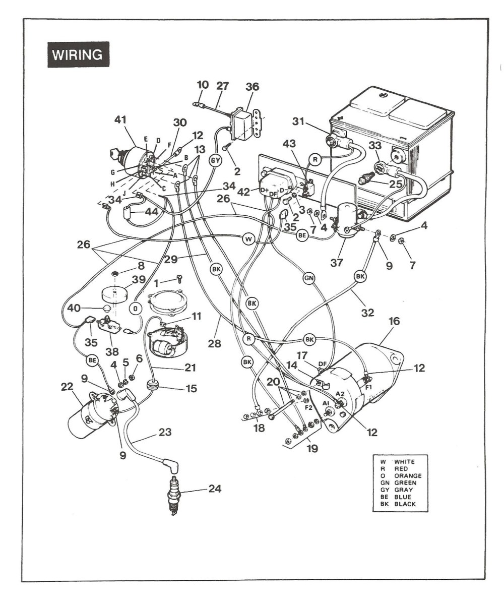 medium resolution of ez go golf cart battery wiring diagram sch n 1984 ezgo schaltplan galerie schaltplan serie circuit