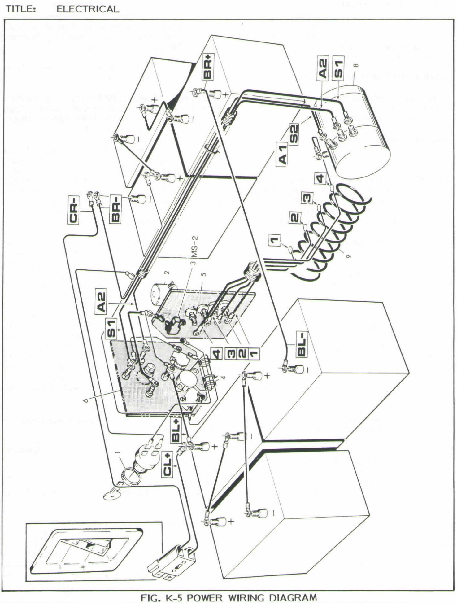 Ez Go Golf Cart Battery Wiring Diagram Wiring Diagram 1951