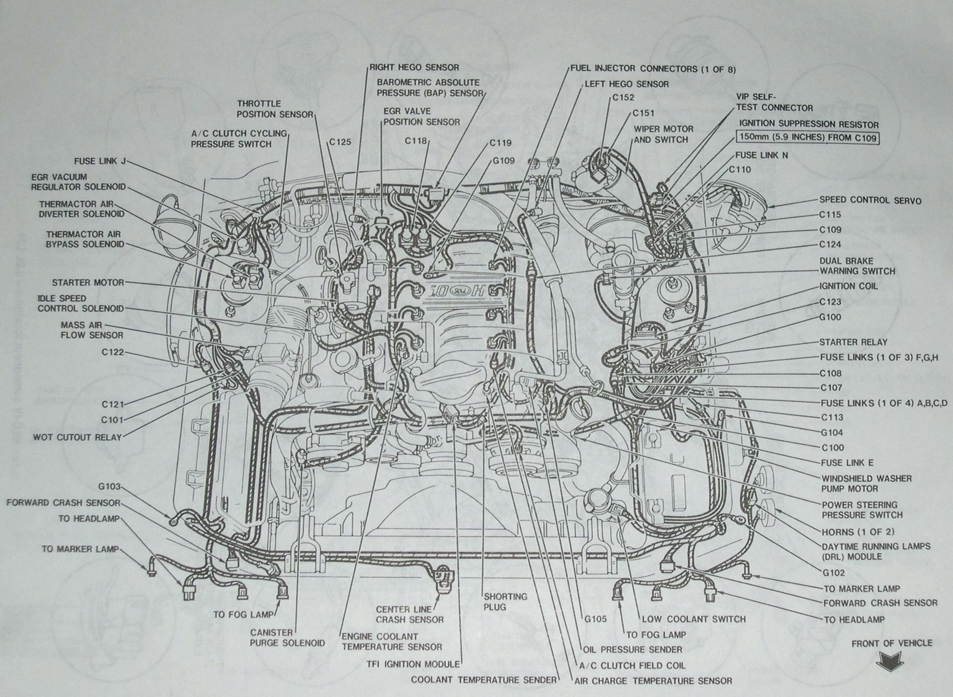 hight resolution of 1992 mustang wiring harness wiring diagram post 1992 mustang wiring harness