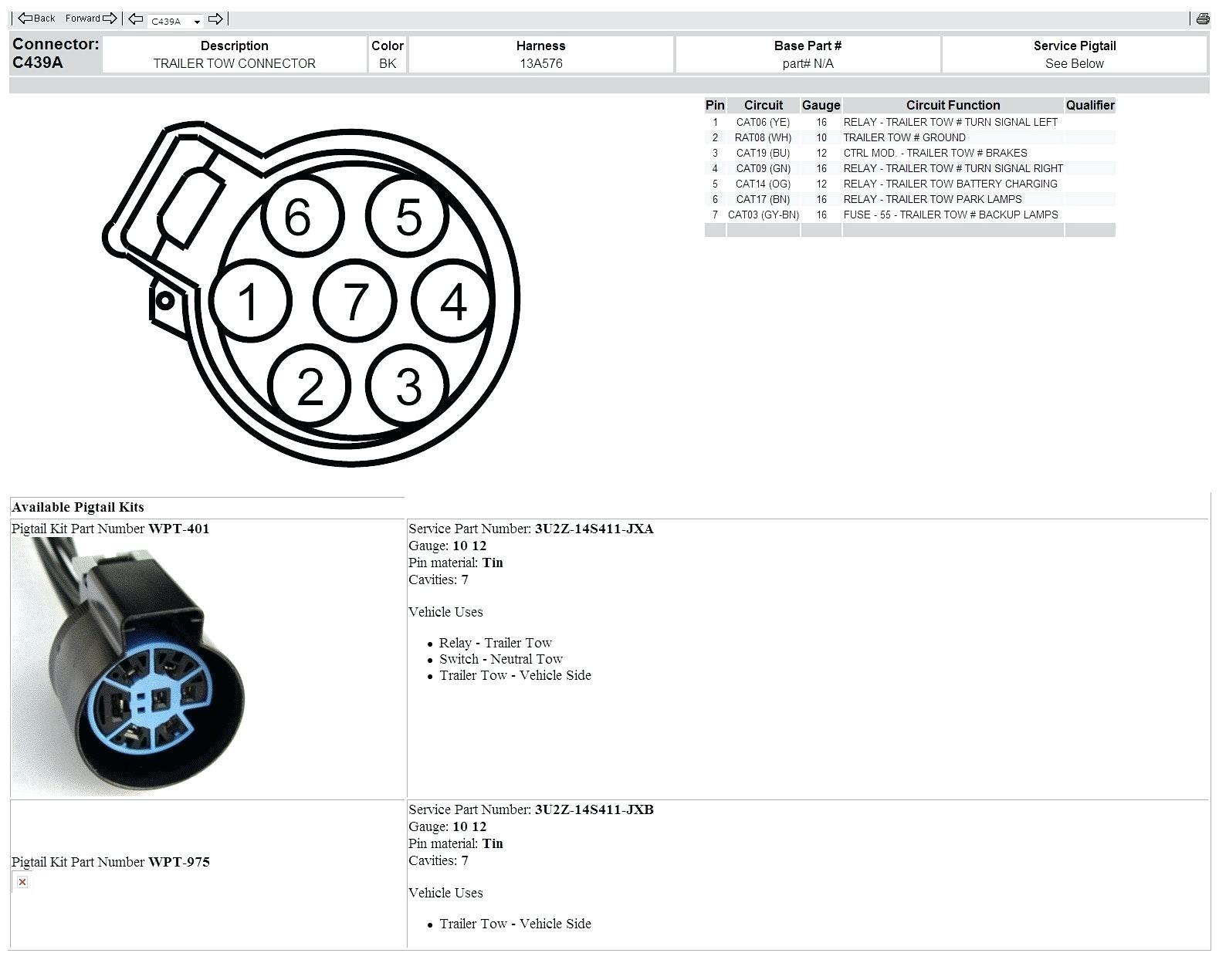 Ford Trailer Plug Wiring Diagram Rv Trailer Wiring