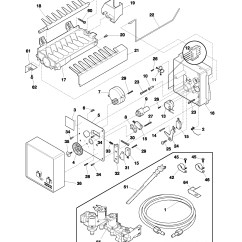 Frigidaire Gallery Dishwasher Parts Diagram 1997 Honda Civic Engine Kenmore Elite Model Side Refrigerator Frs26kr4cq1 Of