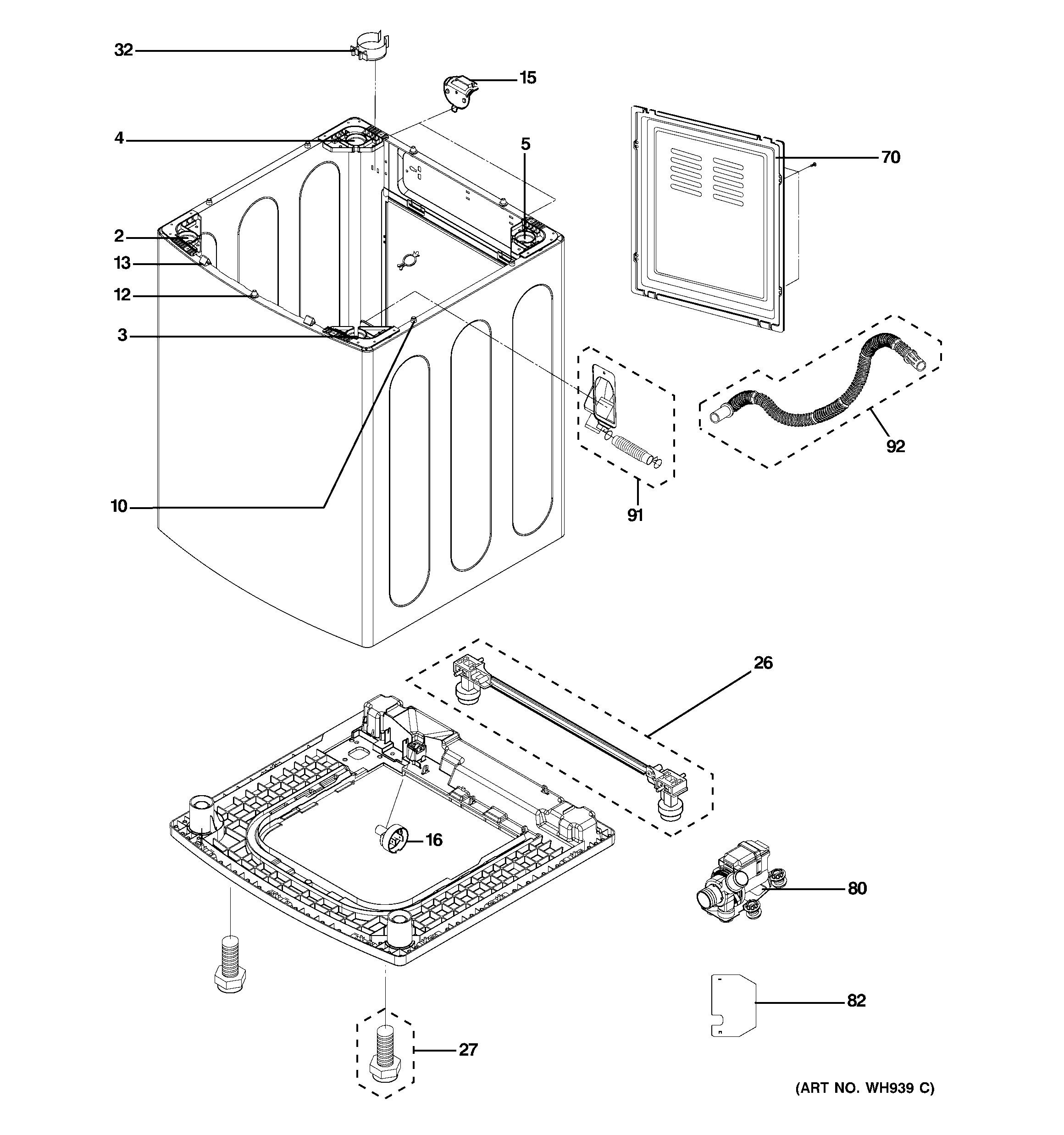 Ge Quiet Power 3 Parts Diagram Ge Washer Parts Model