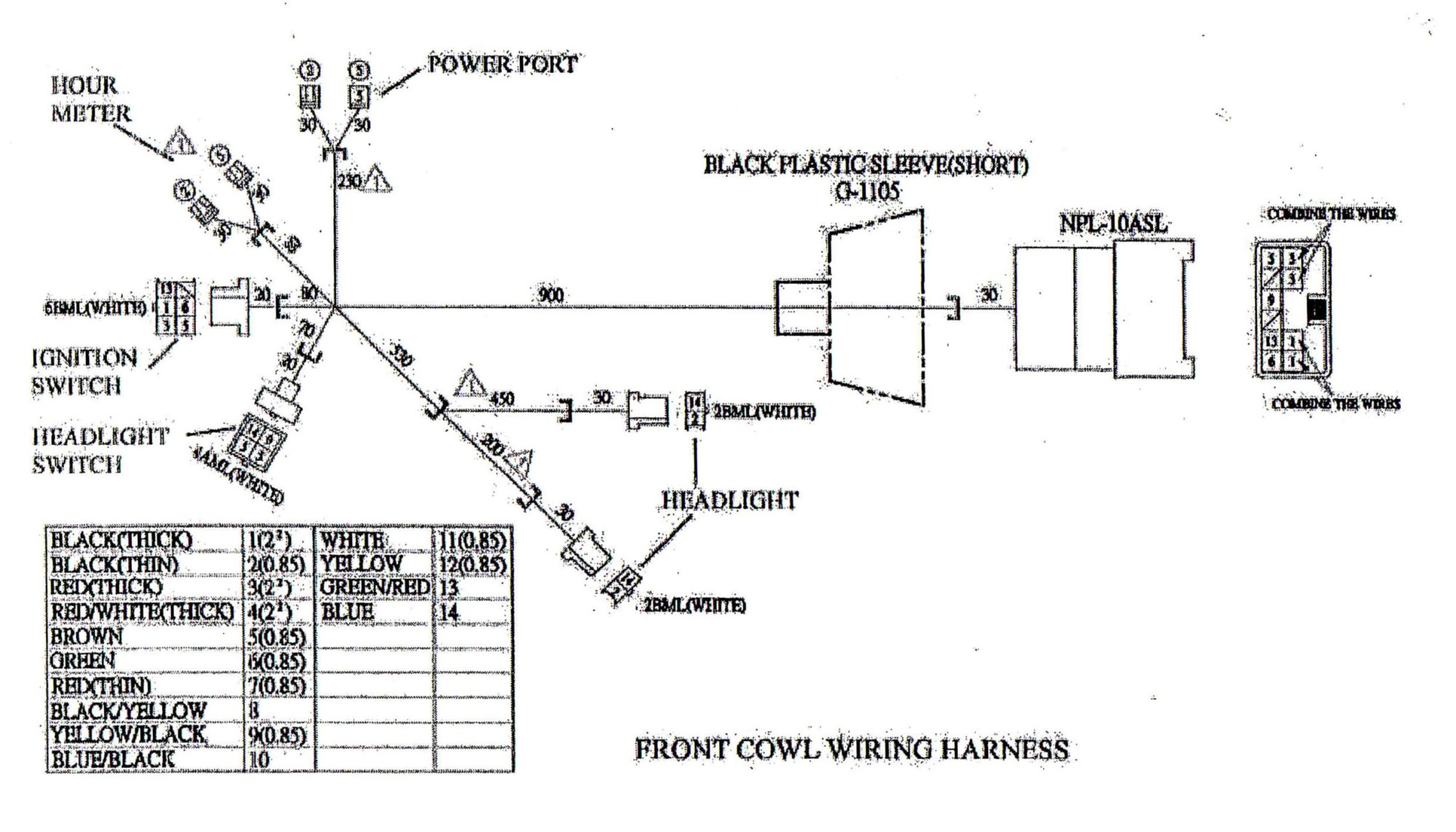 hight resolution of go kart engine diagram main wire cowl for yerf dog cuvs