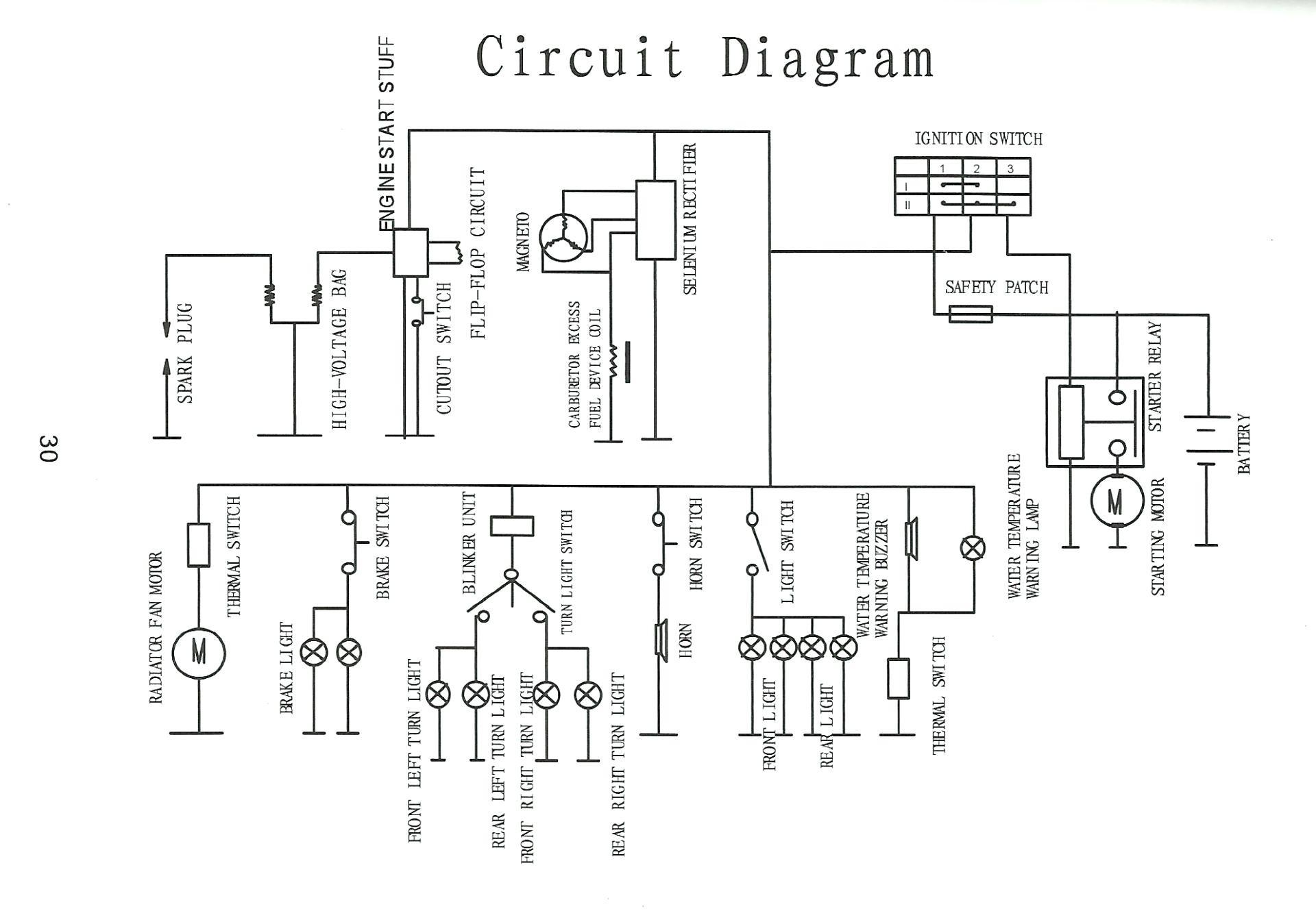 wiring diagram for roketa go kart engine