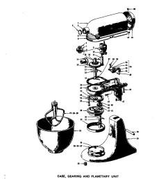 hobart mixer parts diagram kitchenaid model k45 mixer food genuine parts of hobart mixer parts diagram [ 1696 x 2200 Pixel ]