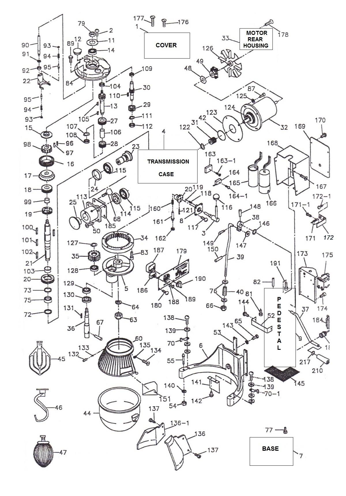 Hobart Mixer Parts Diagram Parts town