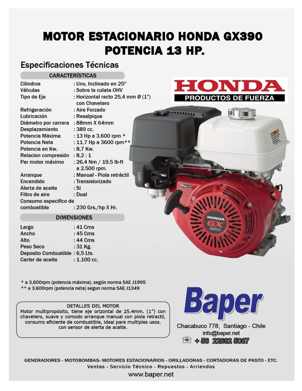 medium resolution of honda gx390 parts diagram motor estacionario honda bencinero gx390 13hp arranque manual baper of honda gx390