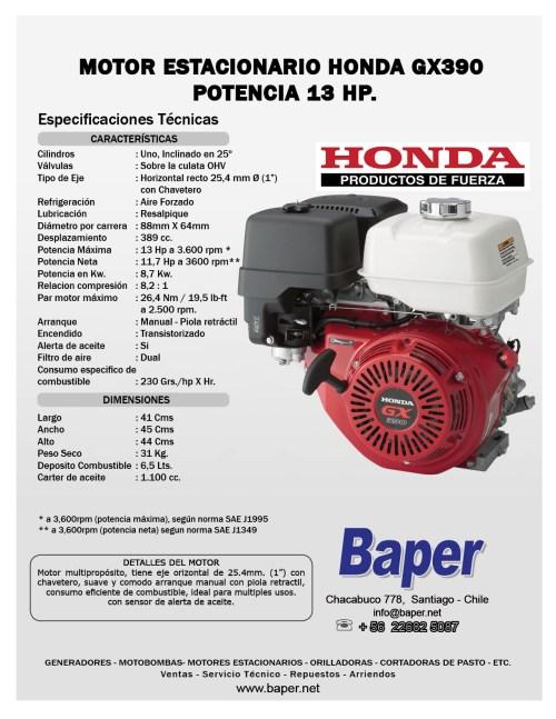 small resolution of honda gx390 parts diagram motor estacionario honda bencinero gx390 13hp arranque manual baper of honda gx390