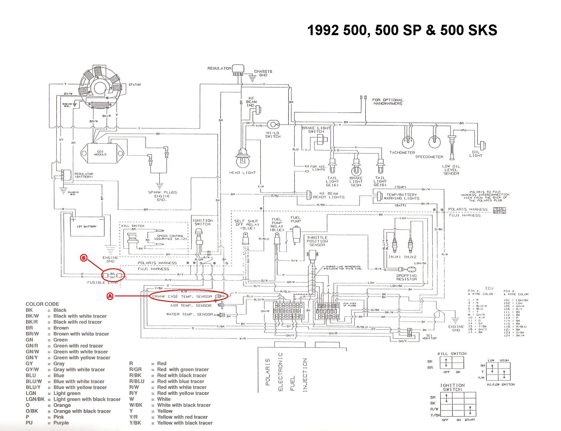 Polaris 500 Xc Sp Wiring Diagram Polaris Outlaw 500 Wiring