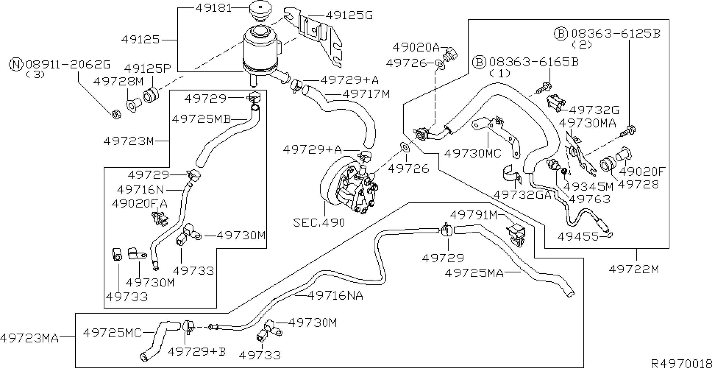 Power Steering Parts Diagram