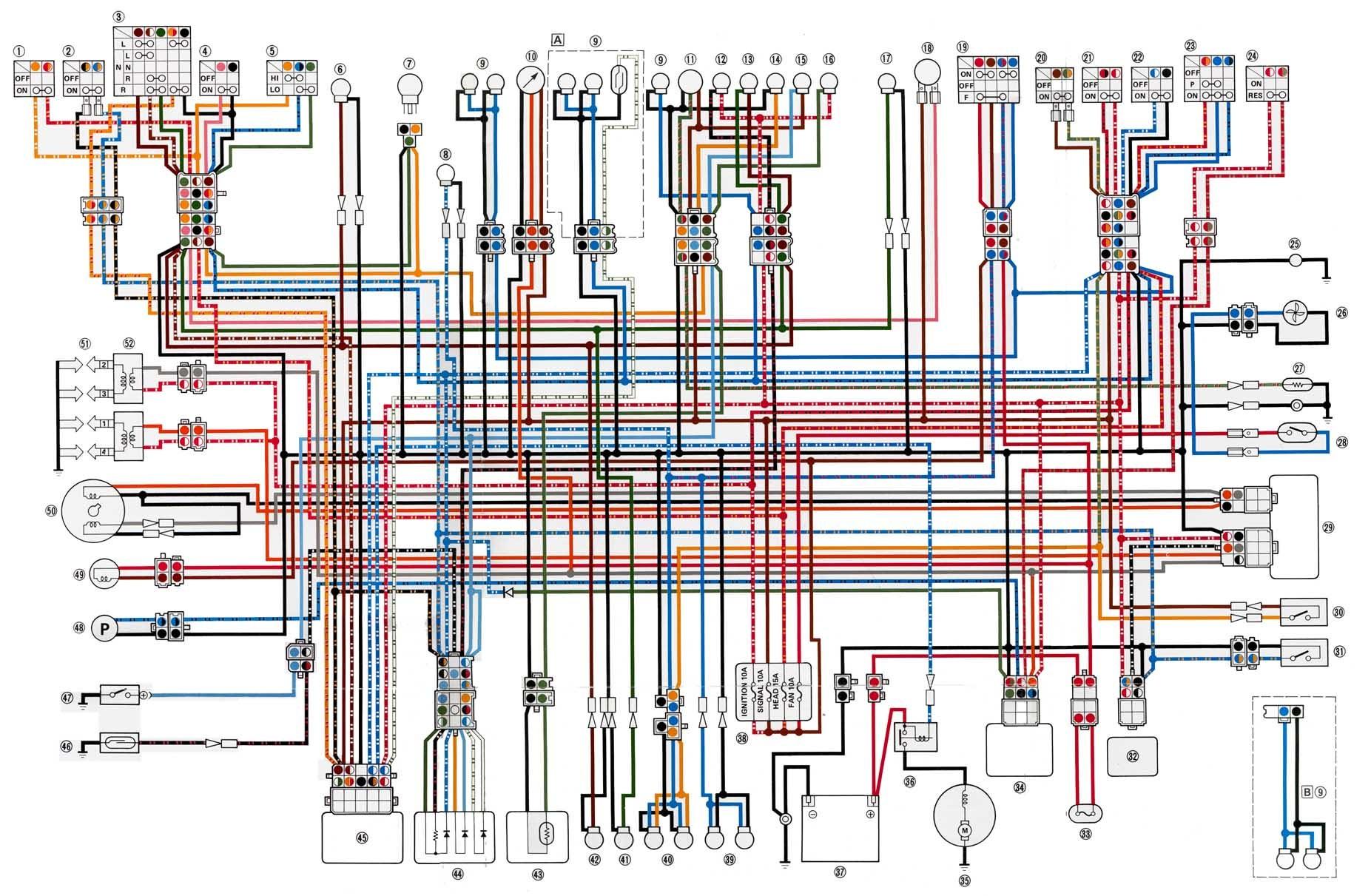 hight resolution of yamaha xj1100 wiring diagram wiring diagrams scematic yamaha seca wiring xj1100 wiring diagram