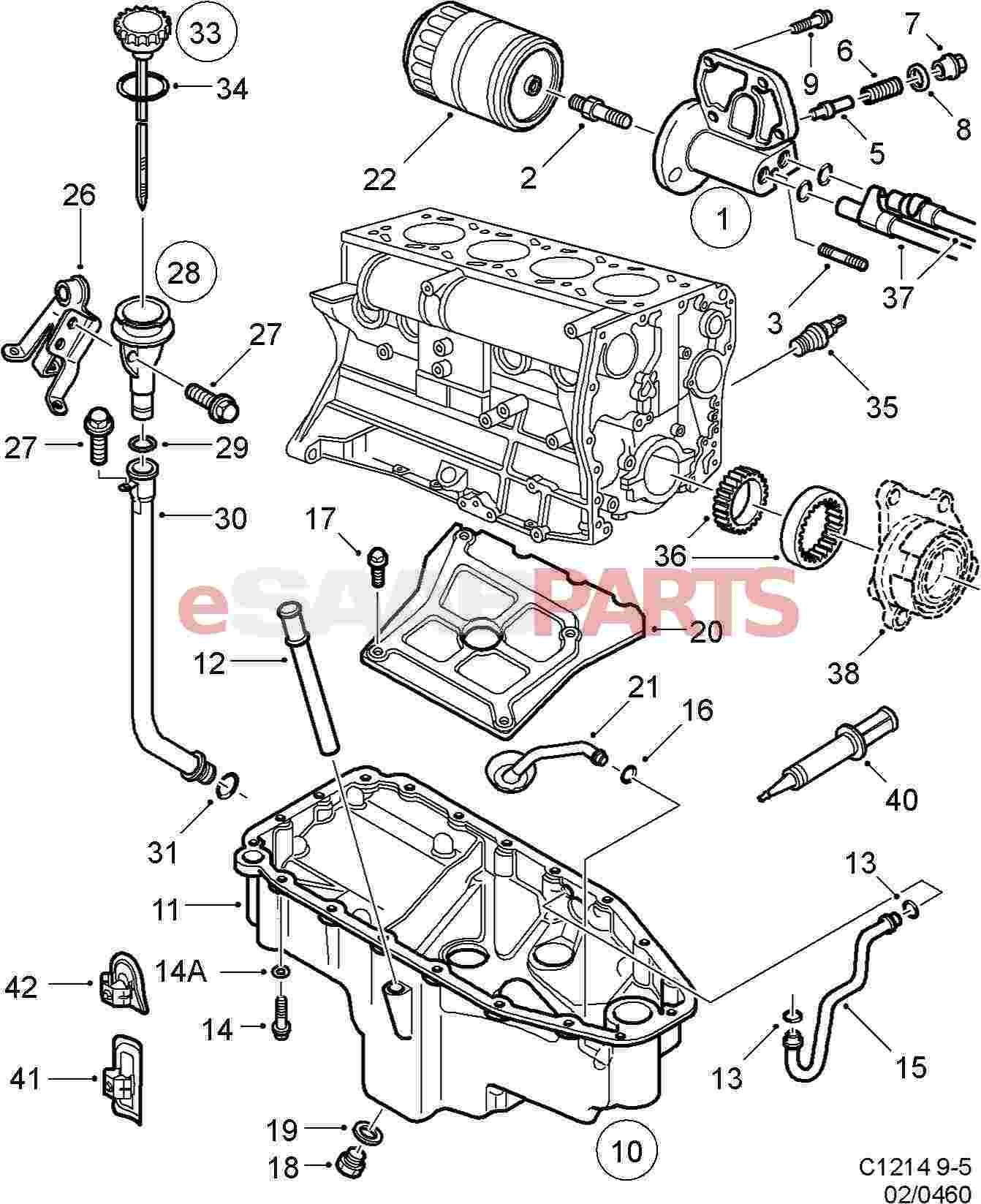 Saab 9 5 Engine Diagram 2 2 ] Saab Flange Sealant Genuine