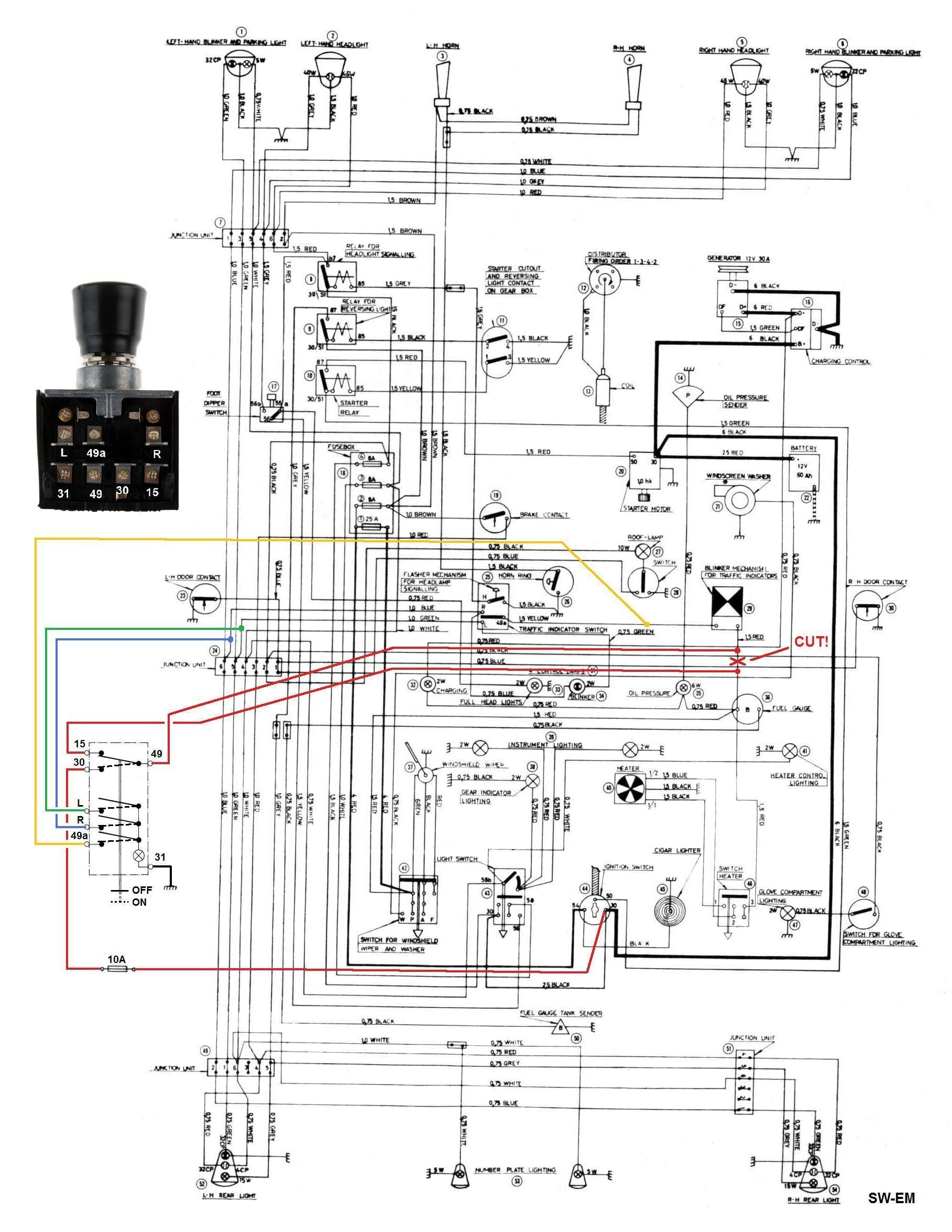 signal light flasher wiring diagram land rover discovery stereo my