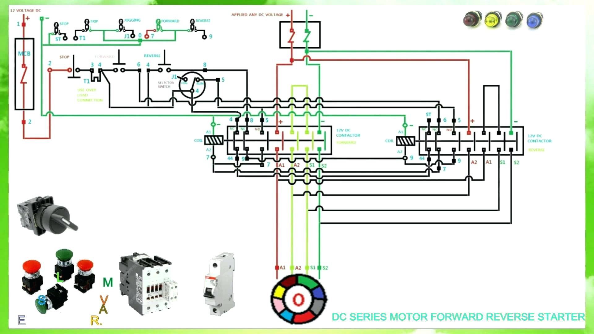 hight resolution of  dol motor control wiring diagram for 3 phase forward reverse starter single