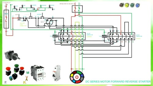 small resolution of  dol motor control wiring diagram for 3 phase forward reverse starter single