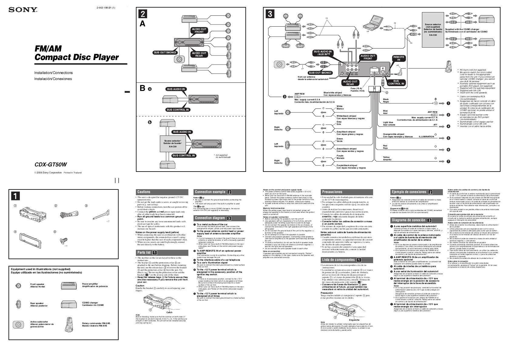 Sony Xplod Car Stereo Wiring Diagram Diagram sony Xplod