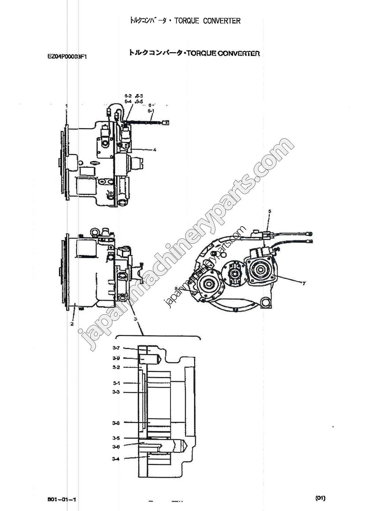 Torque Converter Diagram Parts for Kobelco Rk250 5