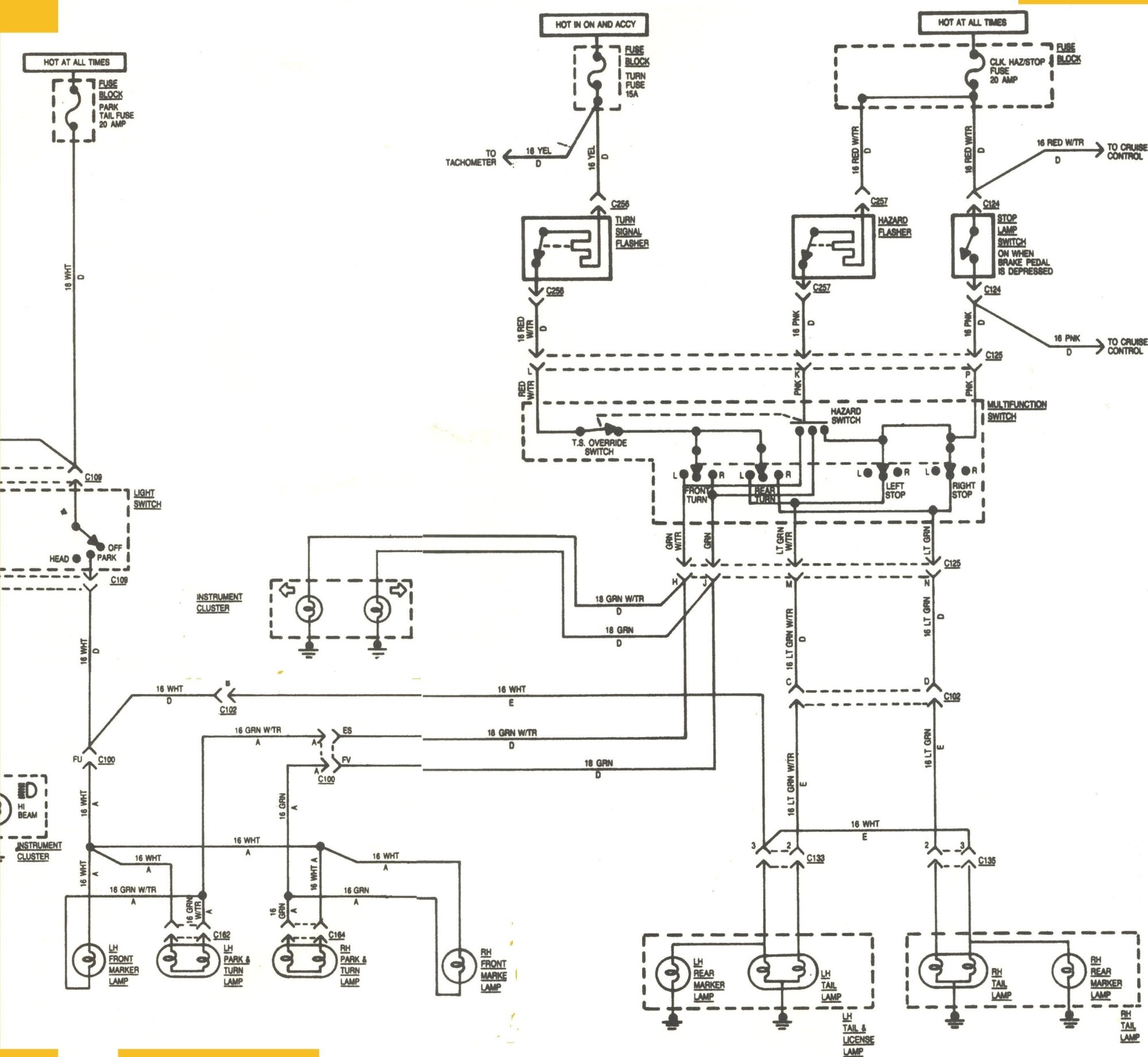 hight resolution of 7 wire turn signal switch wiring diagram