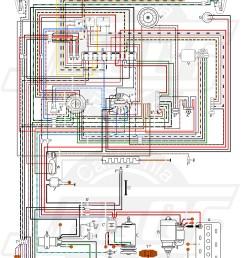 wiring diagram in color 1964 vw bug beetle convertible the samba garage pinterest vw type 1 engine  [ 5070 x 7475 Pixel ]