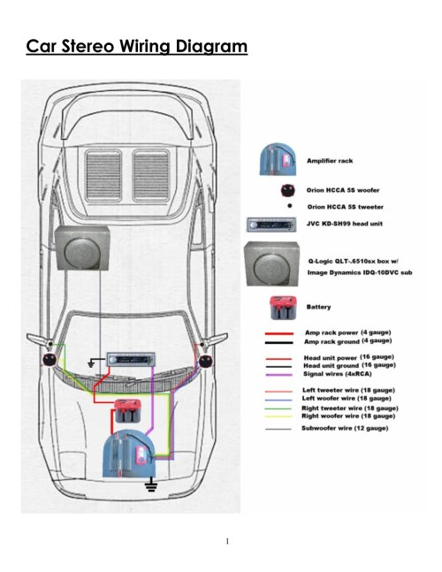 small resolution of wiring diagram for car amplifier and subwoofer 2 svc 2 ohm mono low imp 1275 related post
