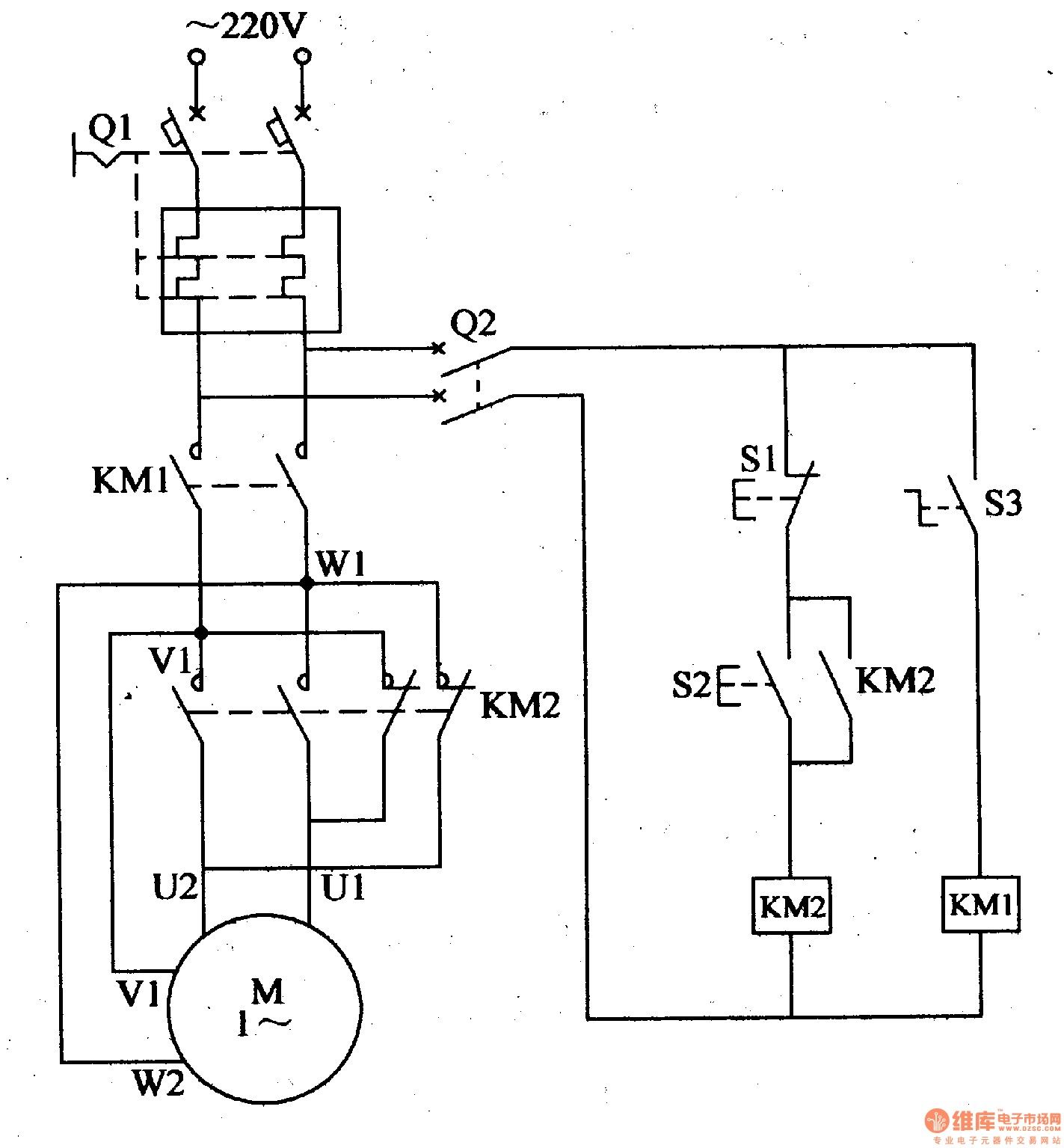 Wiring Diagram For Reversing Switch