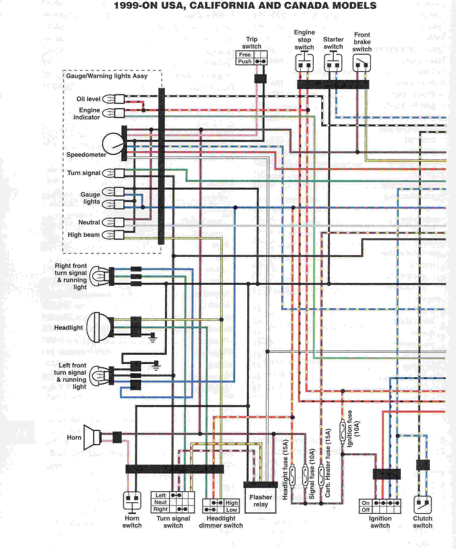1982 yamaha 650 maxim wiring diagram