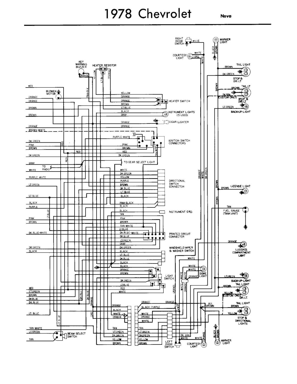 medium resolution of wiring diagram 1978 chevy blower wiring diagram query 1978 chevy luv wiring diagram 1978 chevrolet wiring diagram