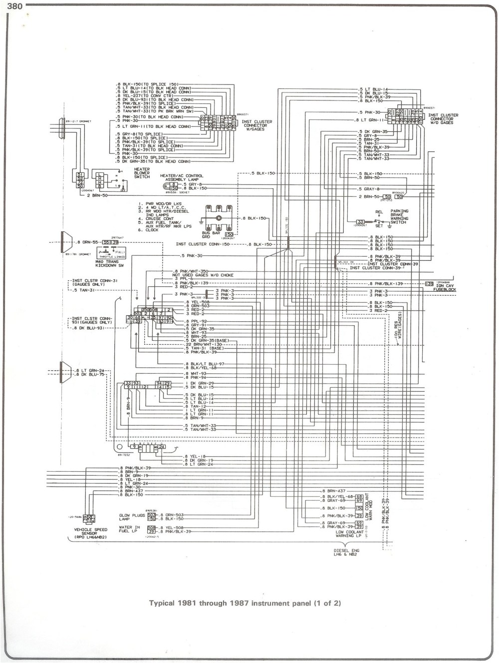medium resolution of 87 chevy fuse diagram wiring diagrams konsult87 chevy fuse diagram wiring diagram centre 87 chevy fuse