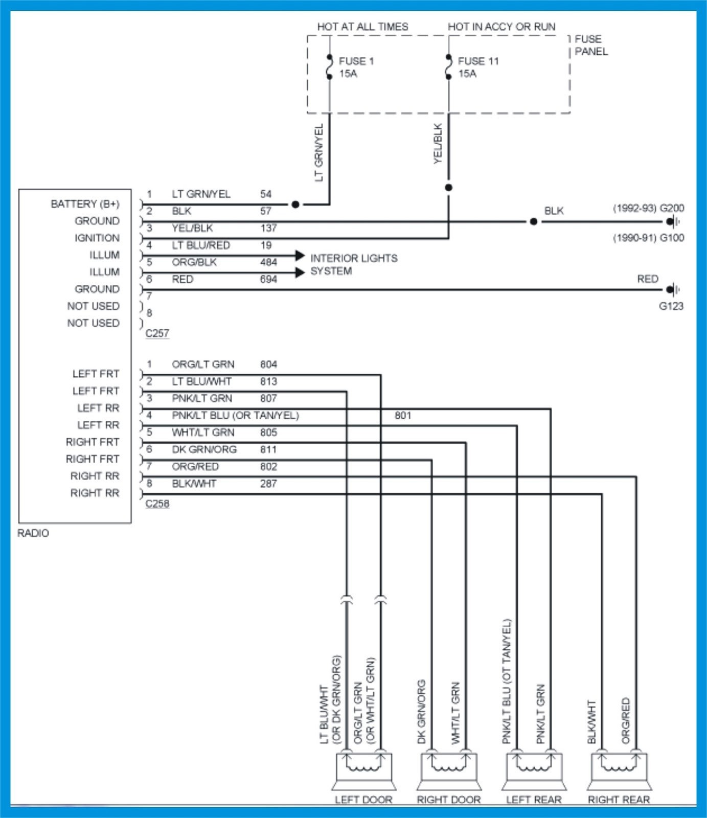 hight resolution of 90 ford ranger wiring diagram electrical wire symbol