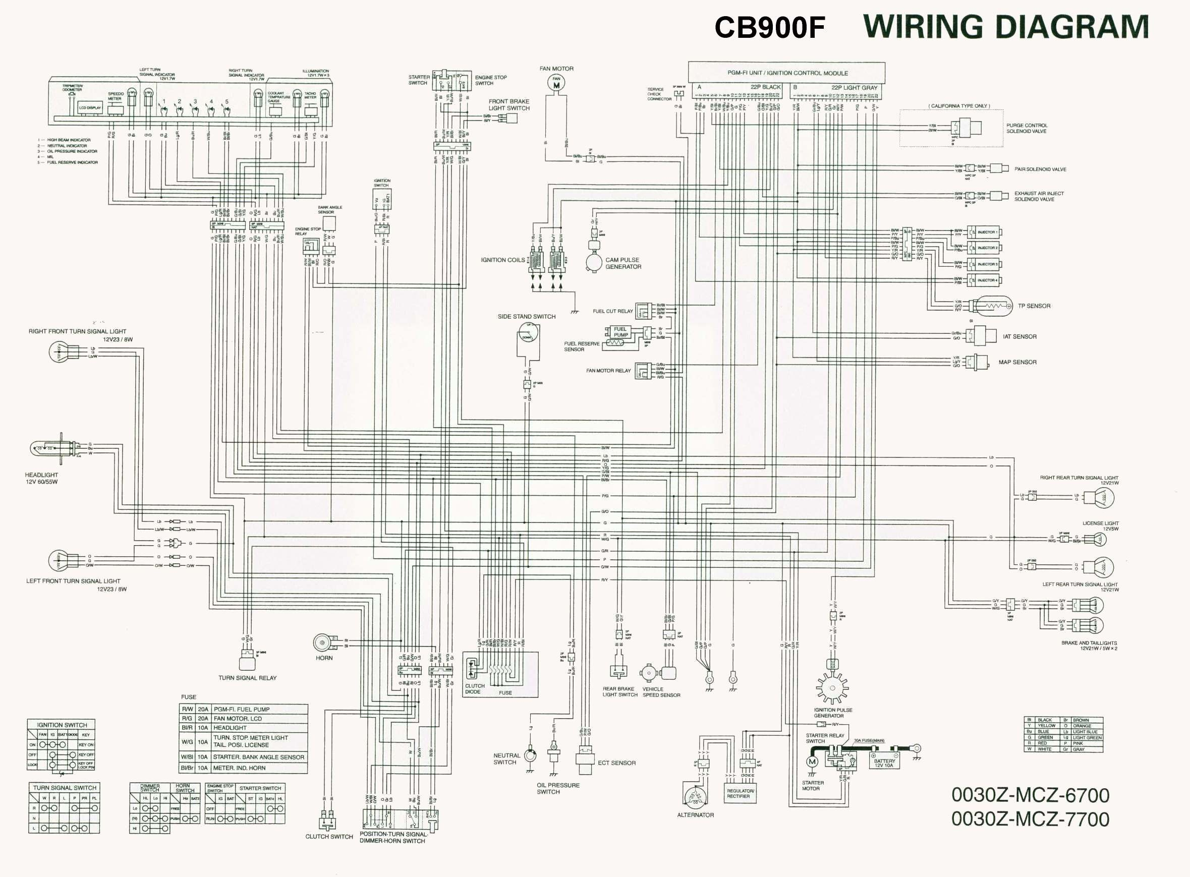 Honda Cb 900 Wiring Diagram On 2001 Honda Accord Wiring Diagram 12