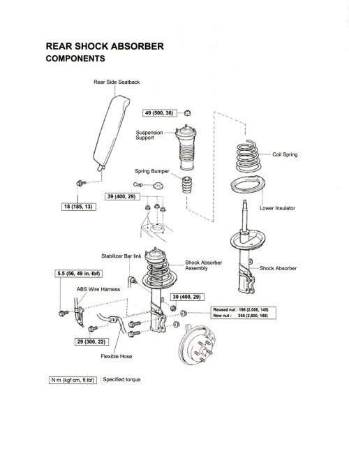 small resolution of 1997 toyota corolla engine diagram 1997 toyota camry engine diagram replacing the rear strut and or
