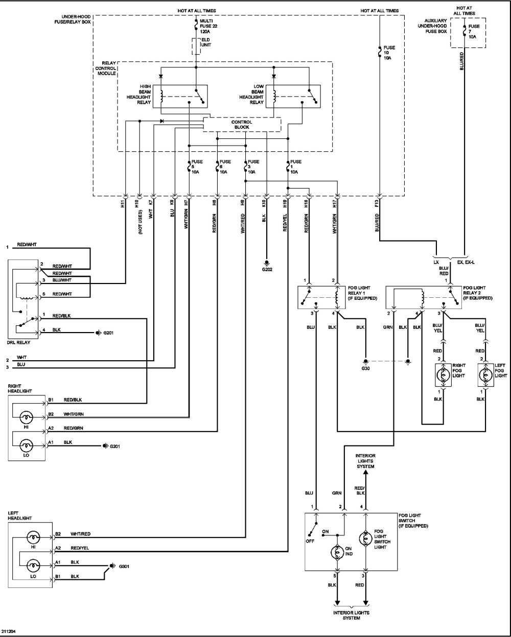 medium resolution of honda headlight wiring diagram wiring diagrams 2008 honda civic headlight wiring diagram 2005 honda civic headlight