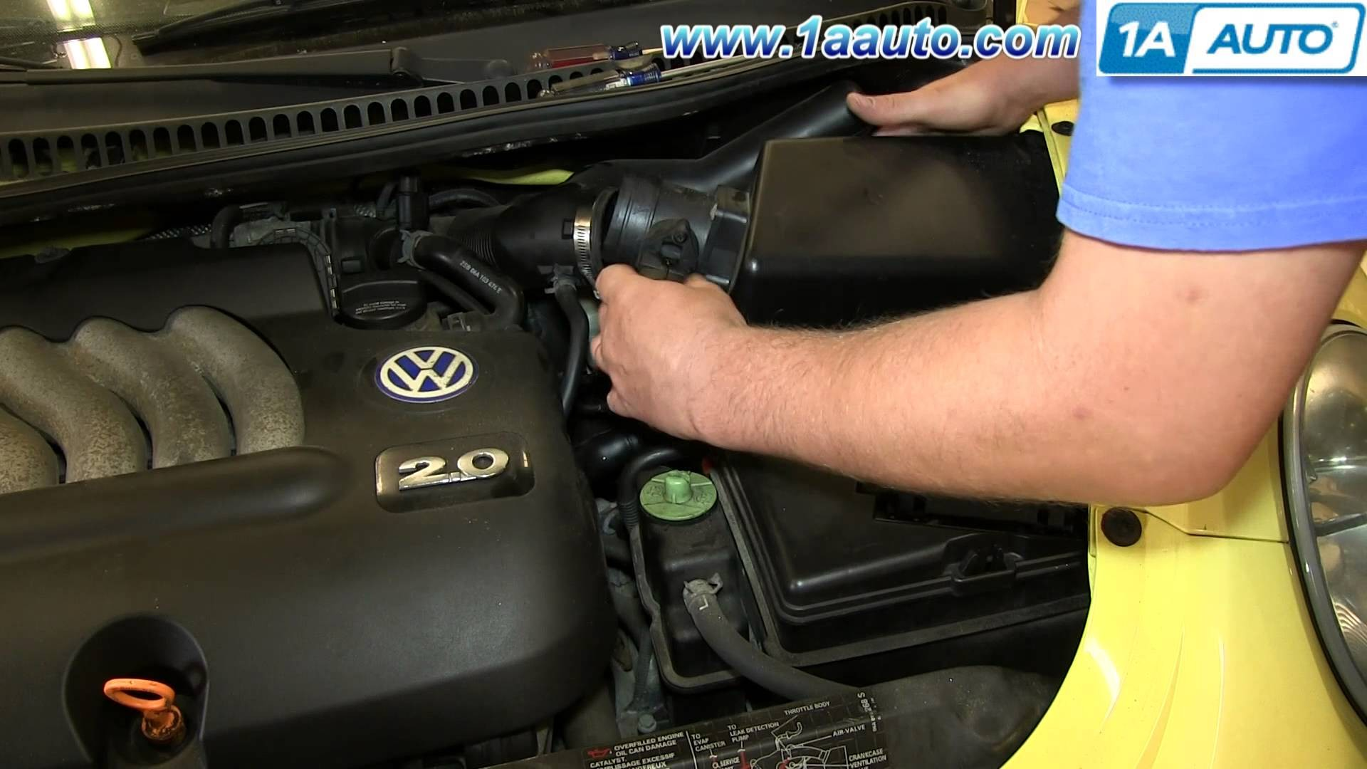 hight resolution of 2000 vw beetle 1 8 turbo engine diagram how to install replace maf mass air flow