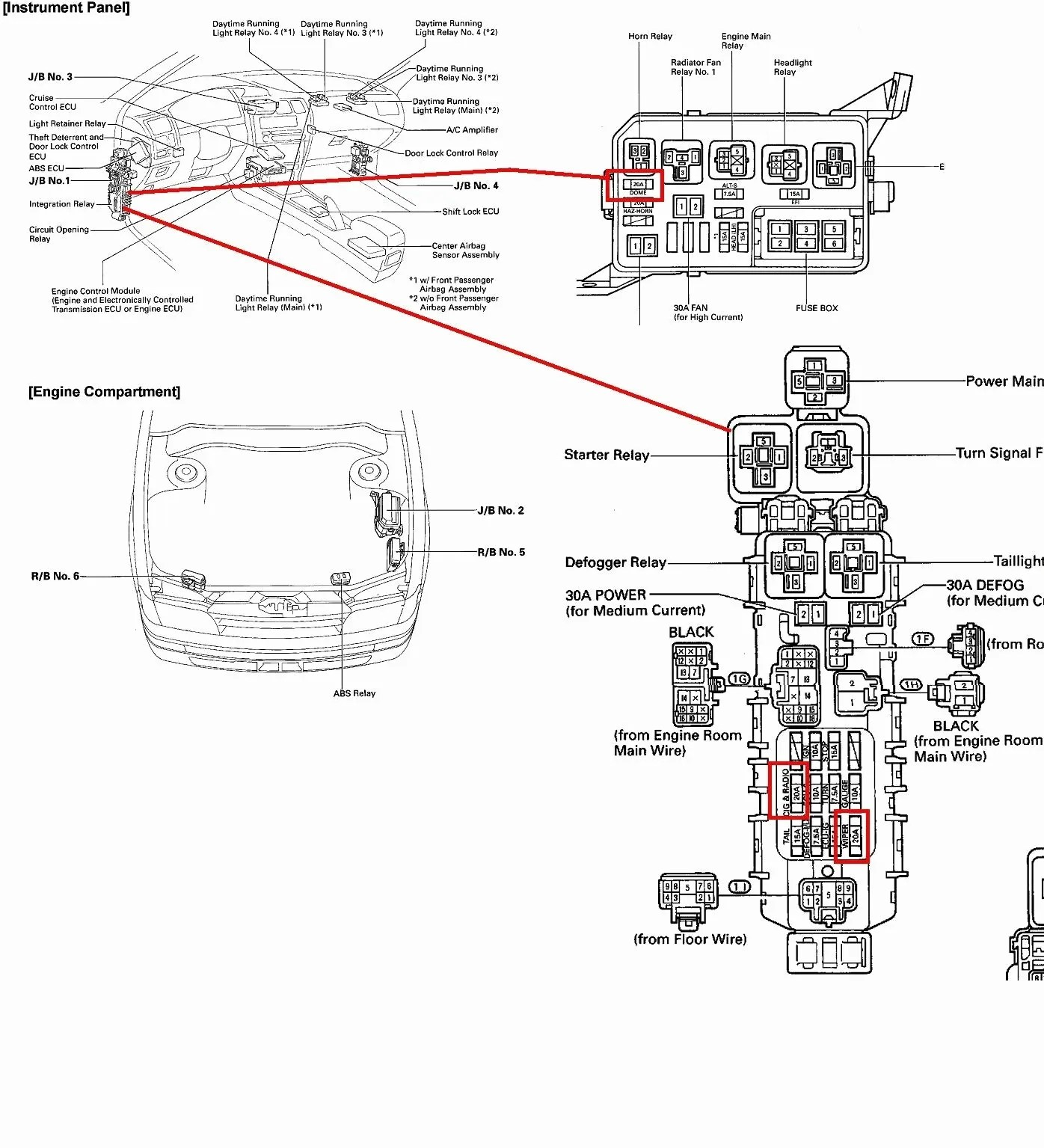hight resolution of fuse box diagram further 2005 toyota camry airbag sensor location 2004 toyota fuse box diagram wiring