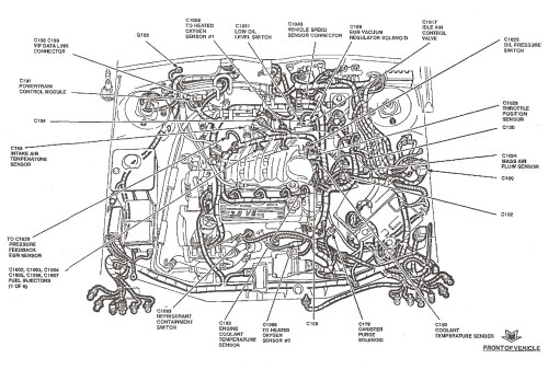 small resolution of ford taurus heater hose diagram on hoses for 2000 ford taurus engine 2001 ford taurus engine diagram hoses