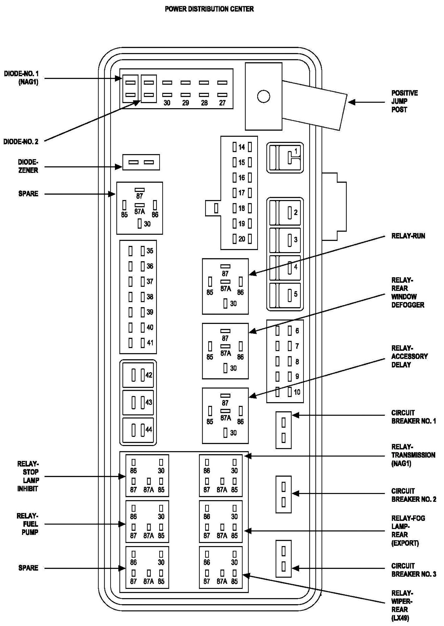 Pt Cruiser Fuse Box Diagram Enlarge