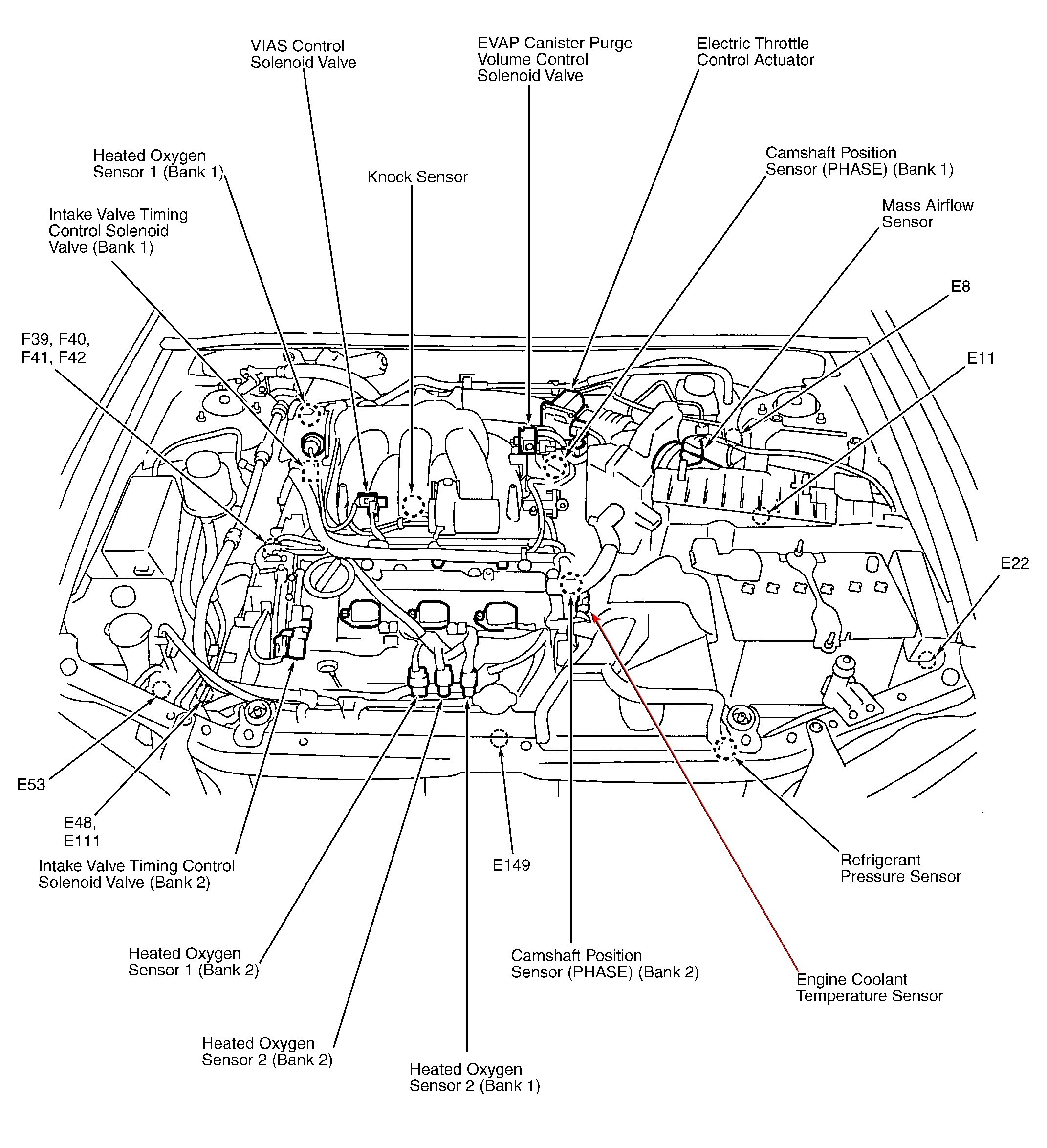 [WRG-7297] 2005 Nissan Pathfinder Engine Diagram Left Side