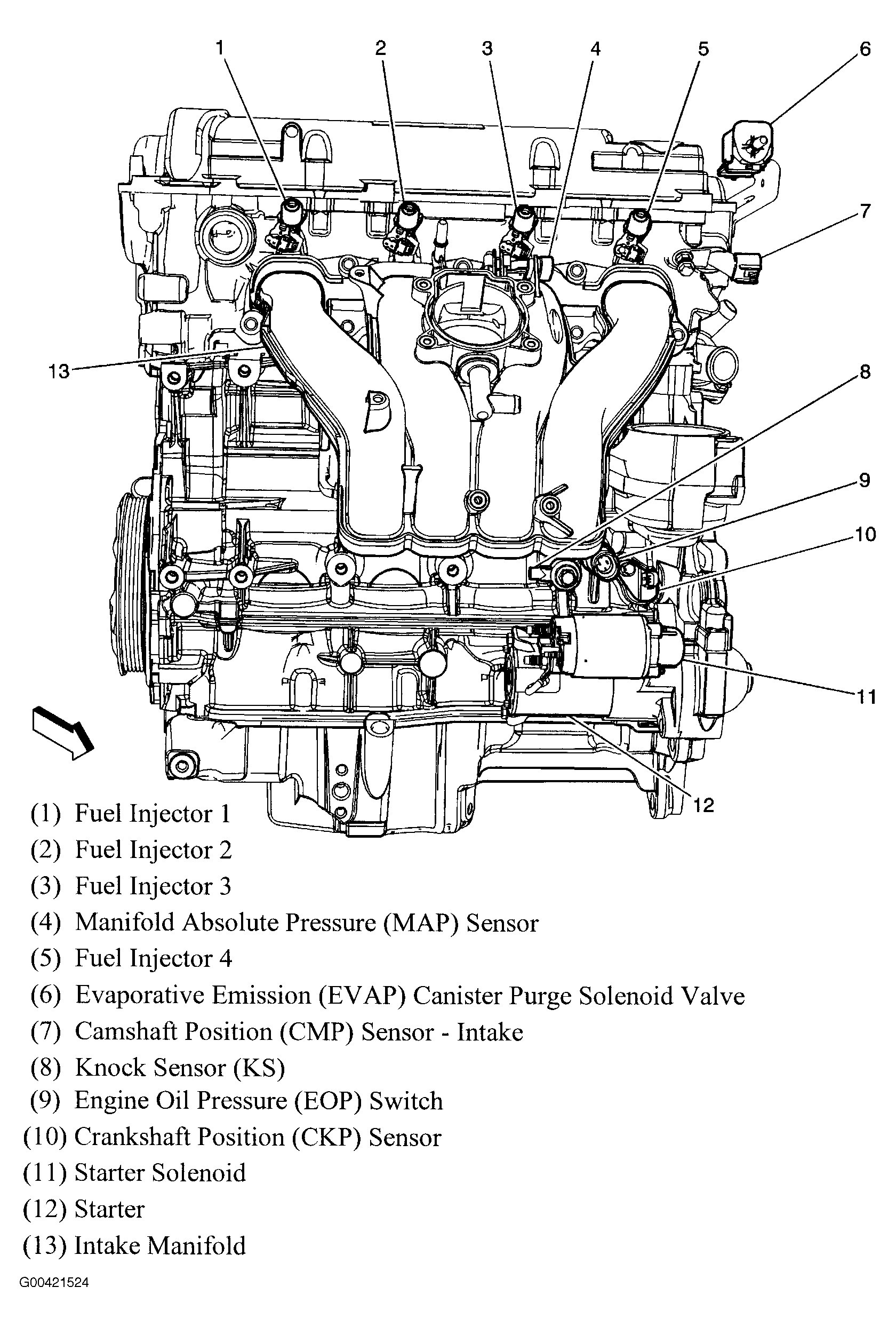 97 Chevy Malibu Engine Diagram