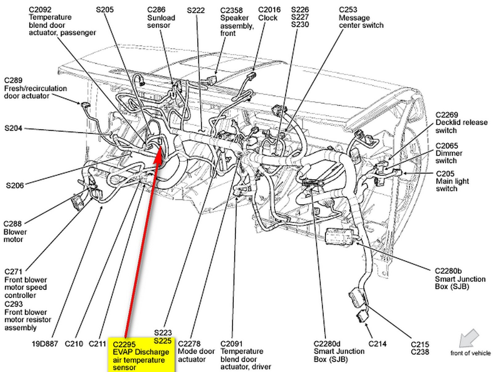 2014 ford Focus Engine Diagram 2000 ford Focus O2 Sensor