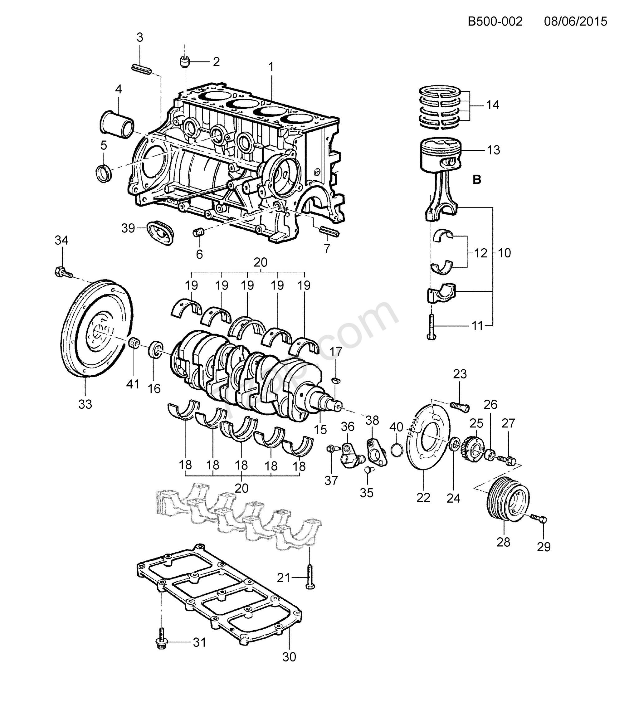 hight resolution of 6 cylinder engine diagram 2012 2016 2l 2s03 06 43 engine asm 2 4l l4 cylinder