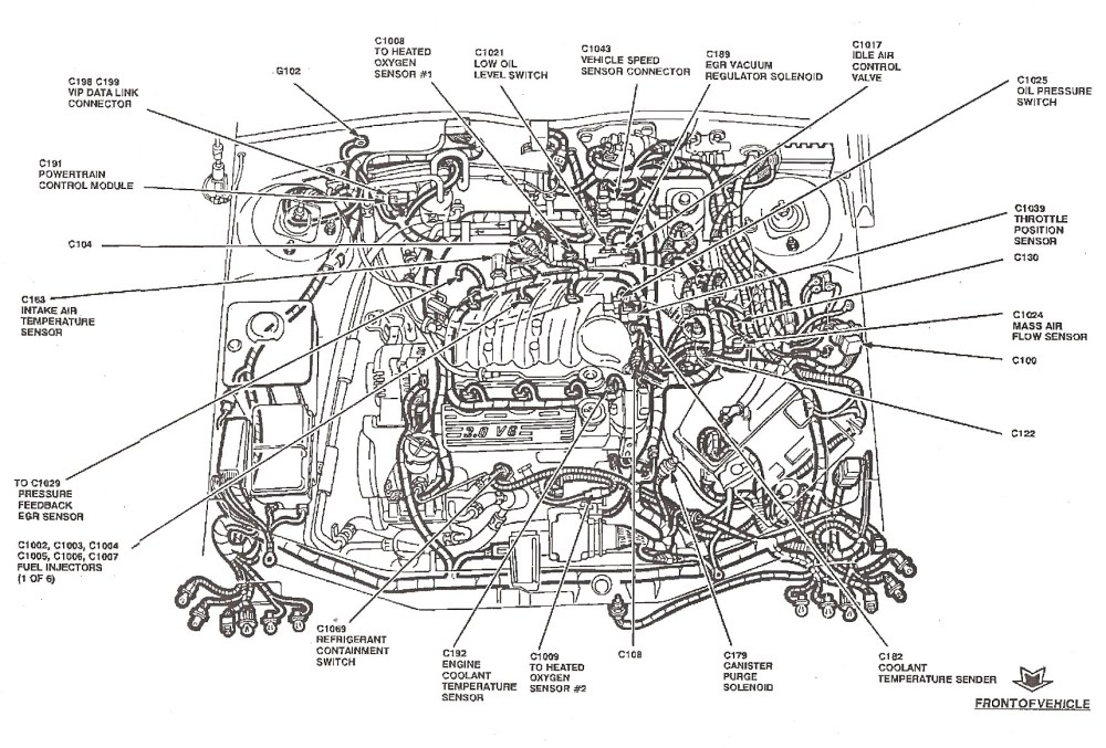 medium resolution of 2001 ford taurus engine diagram wiring diagram libraries 97 taurus engine diagram