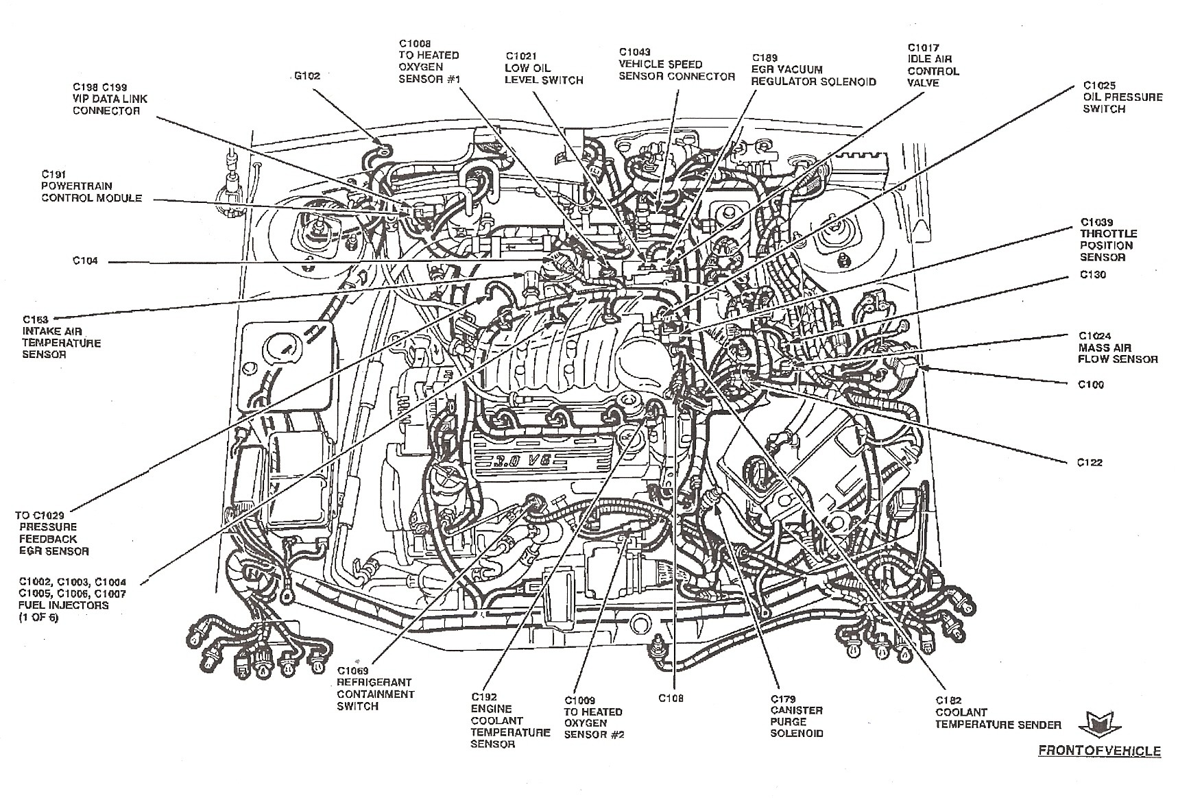 hight resolution of 2004 ford taurus engine diagram wiring diagram expert ford taurus 3 0 engine diagram