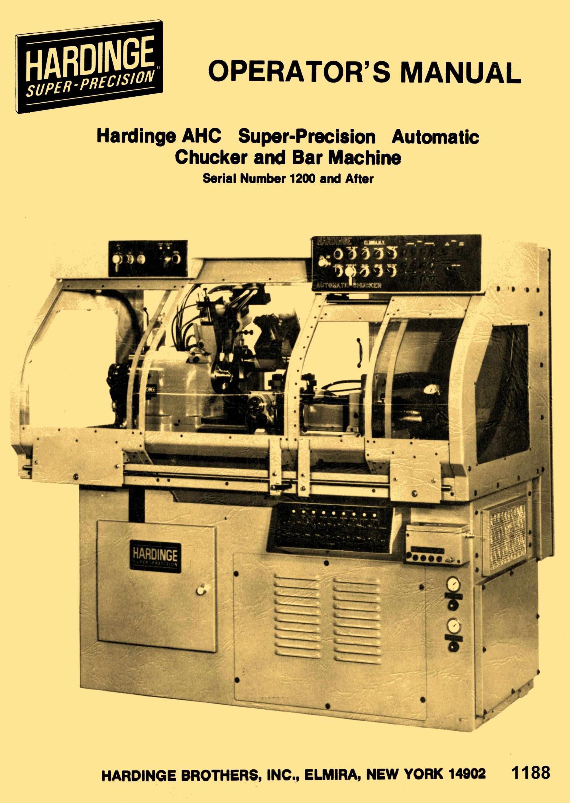 hight resolution of atlas lathe parts diagram hardinge ahc automatic chucking bar machine lathe operators manual of atlas