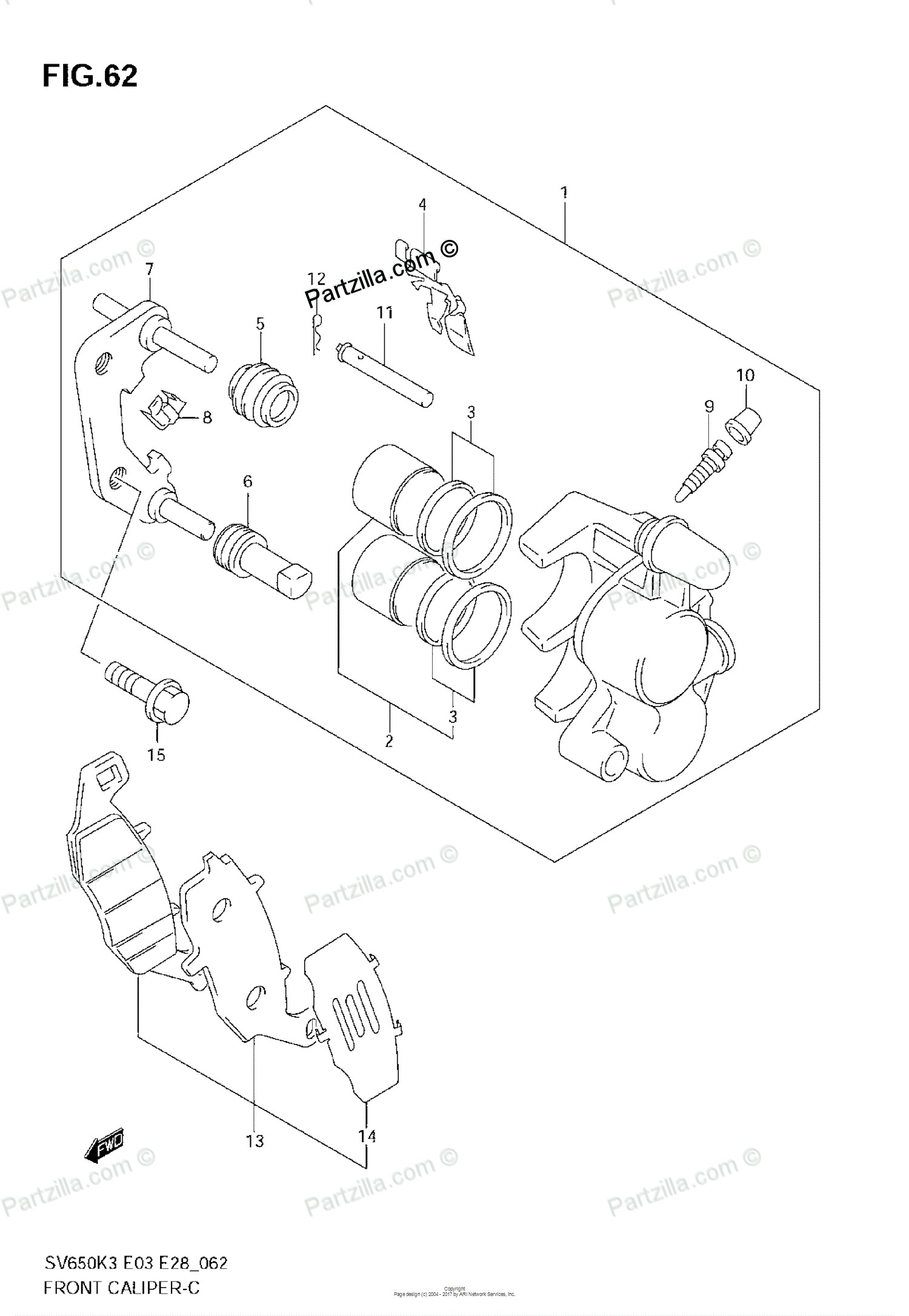 Brake Caliper Parts Diagram ] Saab Bolt Hex with Con Wa