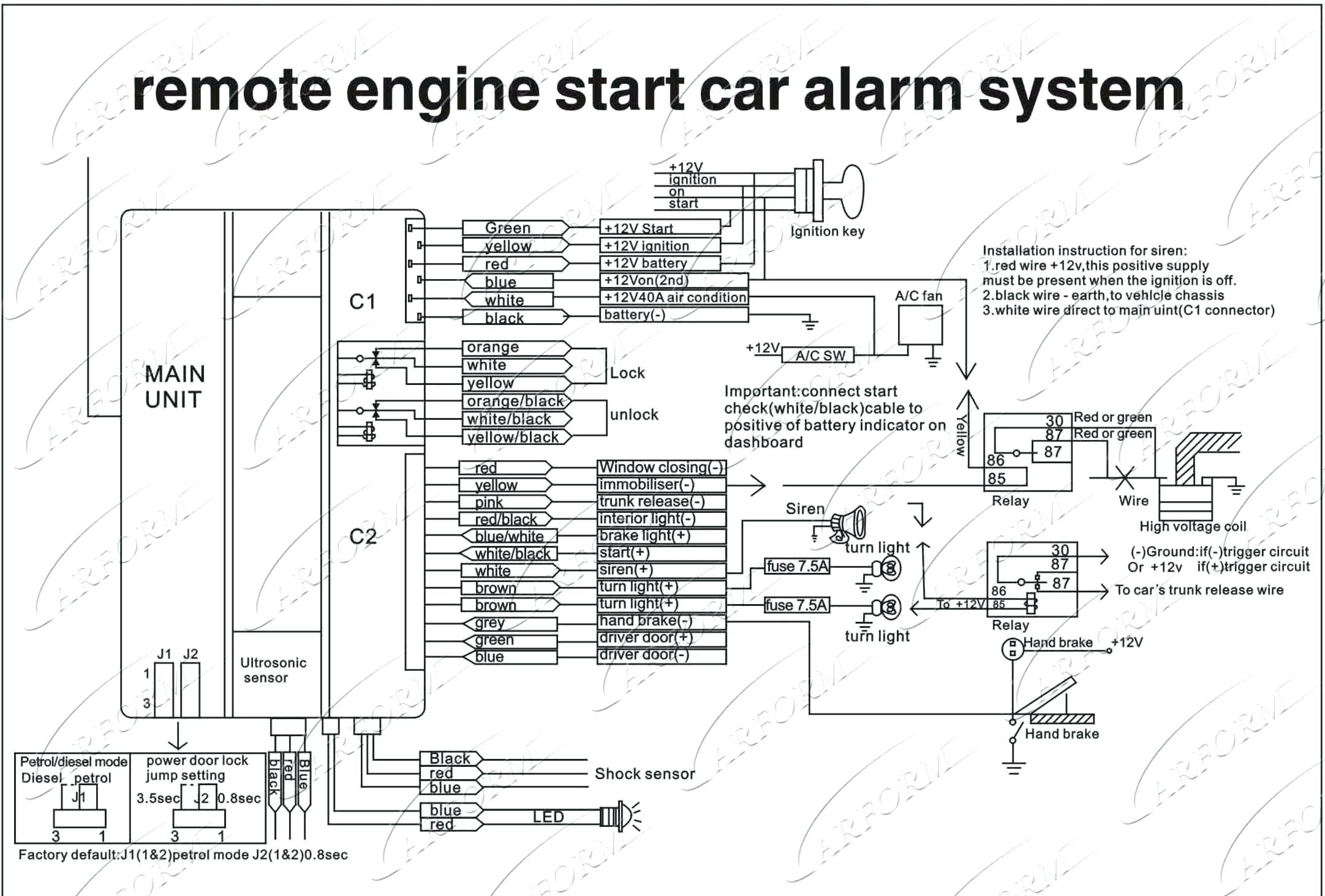 car security wiring diagrams 2005 honda civic audio diagram alarm system vehicle