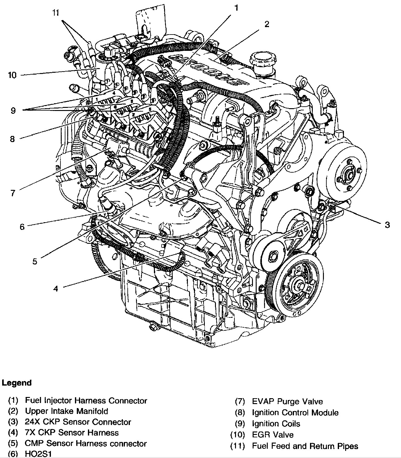 Chevrolet 3 4 Engine Diagram