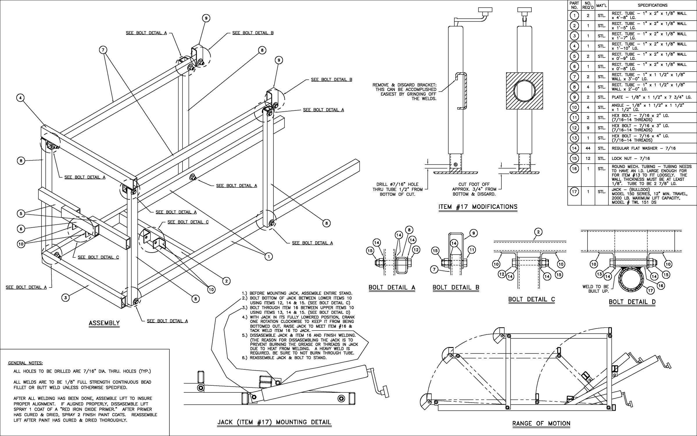 Diagram Of Car Jack