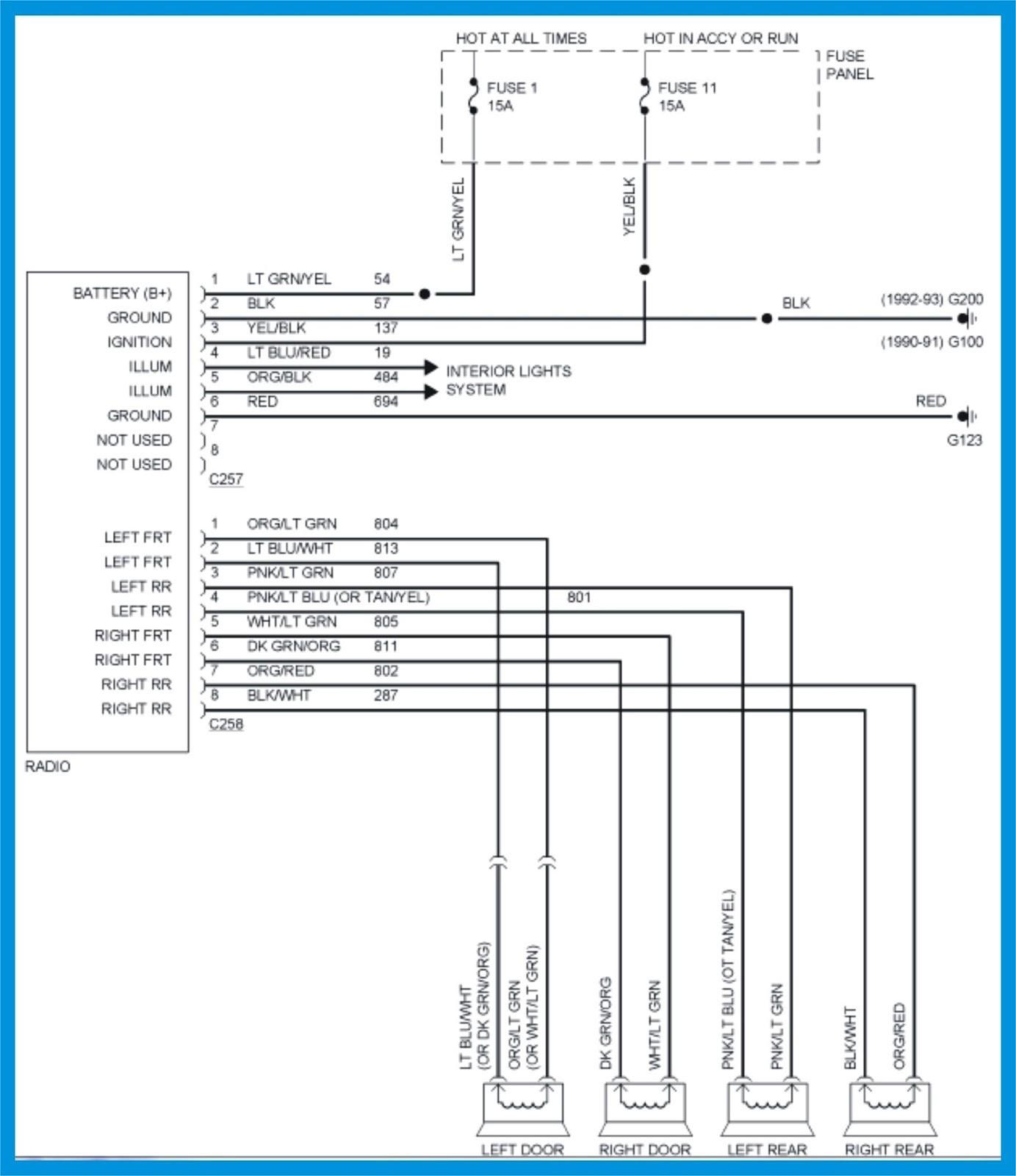 1995 Ranger Radio Wiring Books Of Wiring Diagram \u2022 2000 Ford Radio  Wiring Diagram 94 Ford Radio Wiring