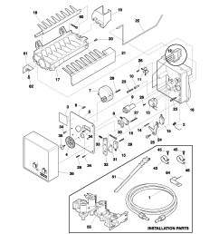 frigidaire ice maker parts diagram charming maytag refrigerator ice on ice maker capacitor ice with simple refrigerator wiring  [ 1700 x 2200 Pixel ]