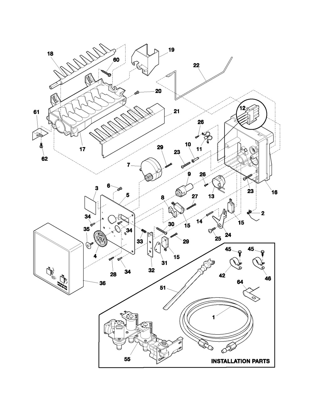 medium resolution of  frigidaire ice maker parts diagram charming maytag refrigerator ice on ice maker capacitor ice with simple refrigerator wiring